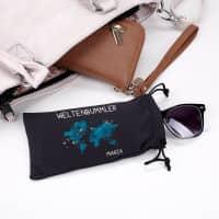 Brillentasche für Weltenbummler mit Namensaufdruck