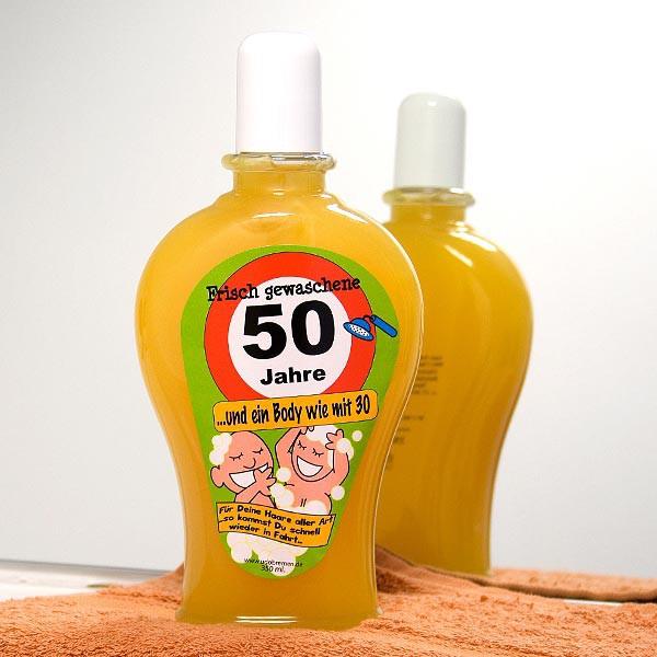 Körpershampoo zum 50. Geburtstag
