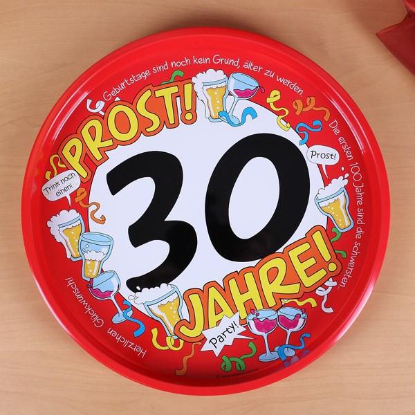 Tablett zum 30. Geburtstag