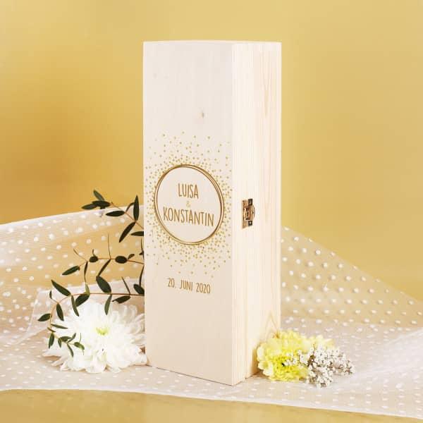 Aufbewahrungsbox für Ihre Hochzeitskerze