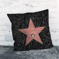 Satinkissen mit Walk of Fame Stern