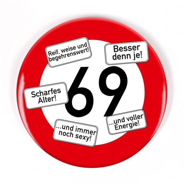 Button zum 69. Geburtstag