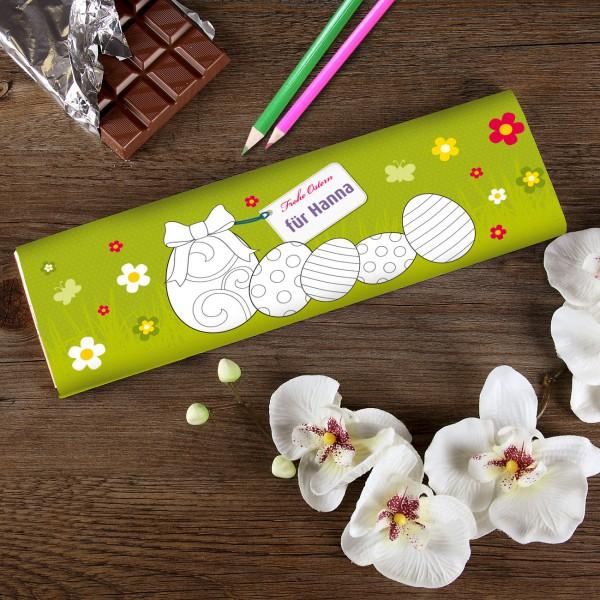 Osterschokolade zum Ausmalen für Kinder