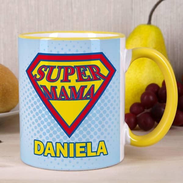 Super Mama Tasse mit Wunschname