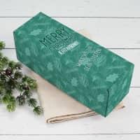 Weihnachtsgeschenkbox mit winterlichem Motiv, Name und Wunschtext