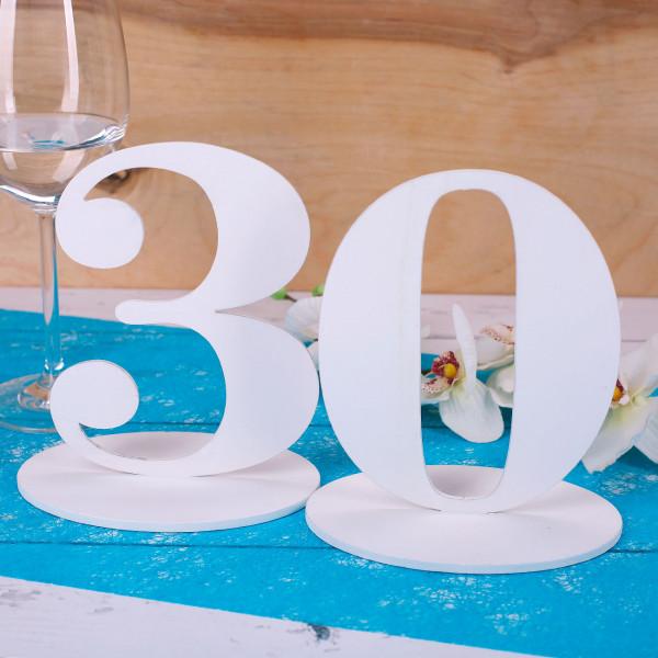 Tischnummer 30 für Geburtstag