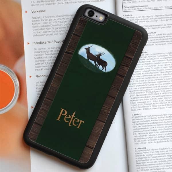 schwarze Handyhülle iPhone 6 Plus mit Jagdmotiv