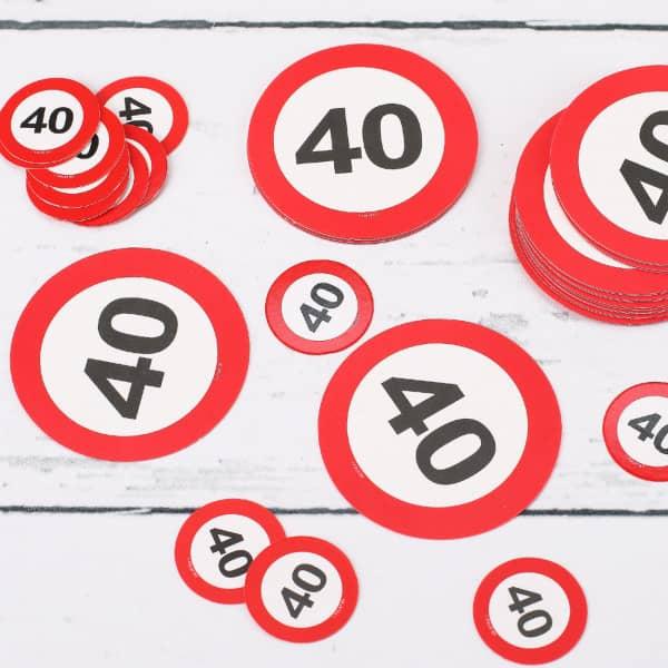 Tischkonfetti XL Verkehrsschilder 40