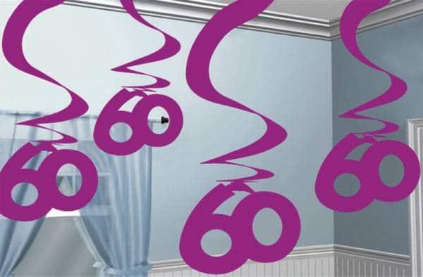 Hängende Dekoration zum 60. Geburtstag