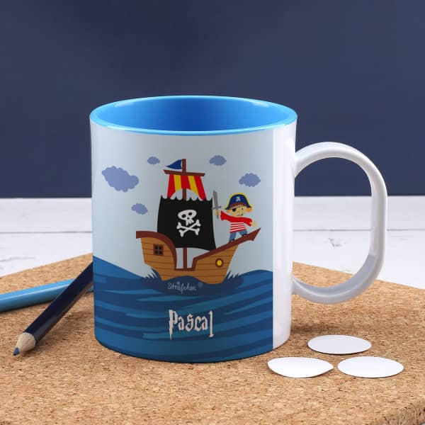 Individuellküchenzubehör - Coole bedruckte Tasse für echte Piraten - Onlineshop Geschenke online.de