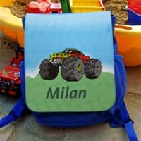 Kindergartenrucksack Monstertruck mit Namen