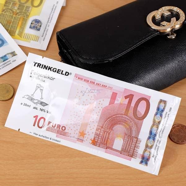 Trinkgeld 10 Euro Feigenlikör mit Wodka