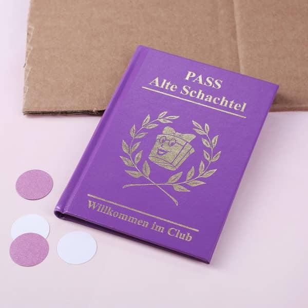 Spaßbuch Alte Schachtel - Pass
