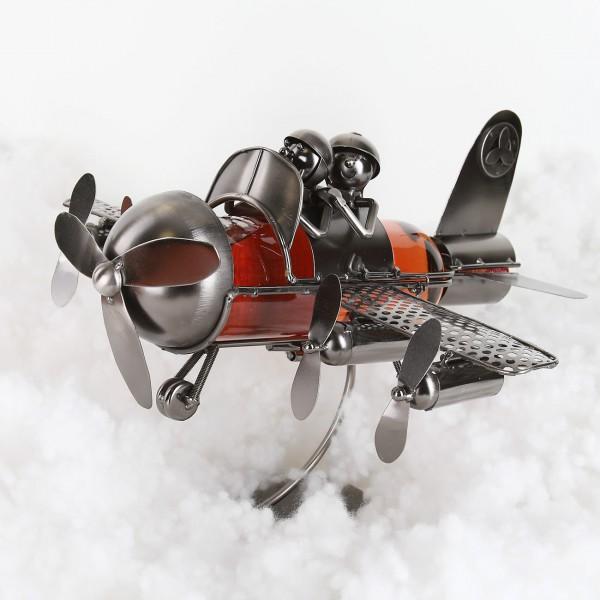 Flaschenhalter aus Metall Flugzeug