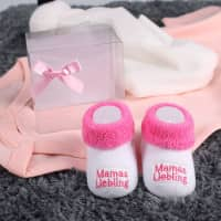Babys erste Söckchen - Mamas Liebling in rosa