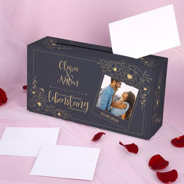 Schöne und edle Briefbox zur Hochzeit