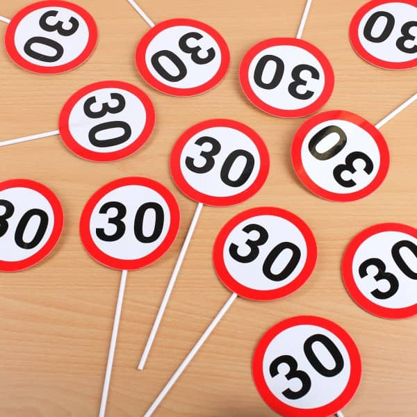 Mini Schilder Verkehrzeichen zum 30. Geburtstag