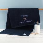 Handtuch mit Name für Angler in 3 Größen