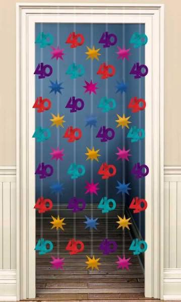 Türvorhang zum 40. Geburtstag