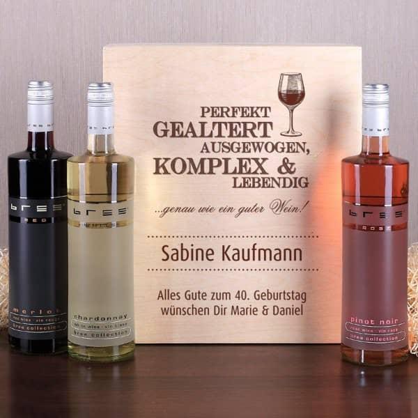 Wein Set für Geniesser mit Personalisierter Box