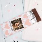 100g Schokolade mit Foto und Wunschtext zum Valentinstag