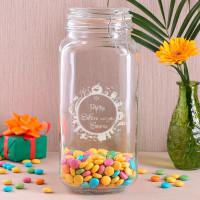 Vorratsdose für Süßigkeiten mit Wunschnamen und Halloween - Motiv