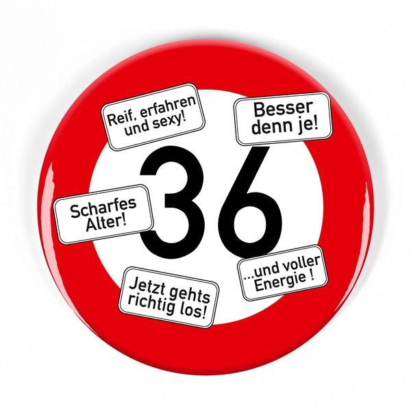 XXL Button Verkehrsschild 36