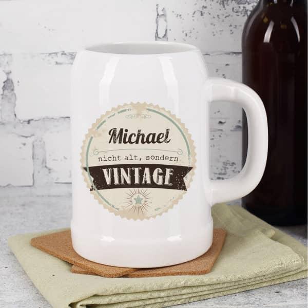 persönlicher Bierkrug zum Geburtstag - Nicht alt, sondern Vintage