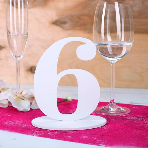 Zahl 6 für Ihre Tischdekoration