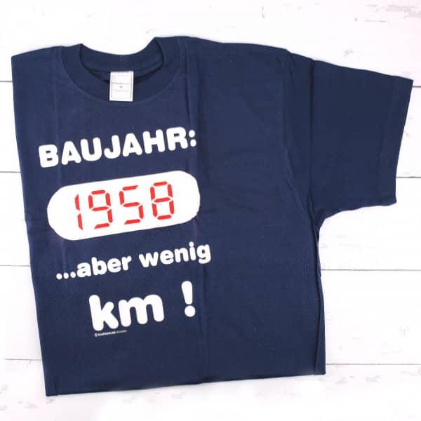 T-Shirt: Baujahr 1958 ...aber wenig Kilometer!