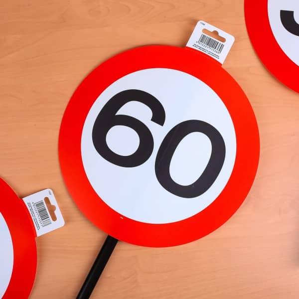 Verkehrsschild zum 60. Geburtstag