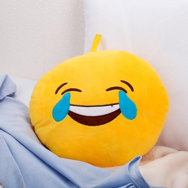Emoticon-Kissen mit Freudentränen