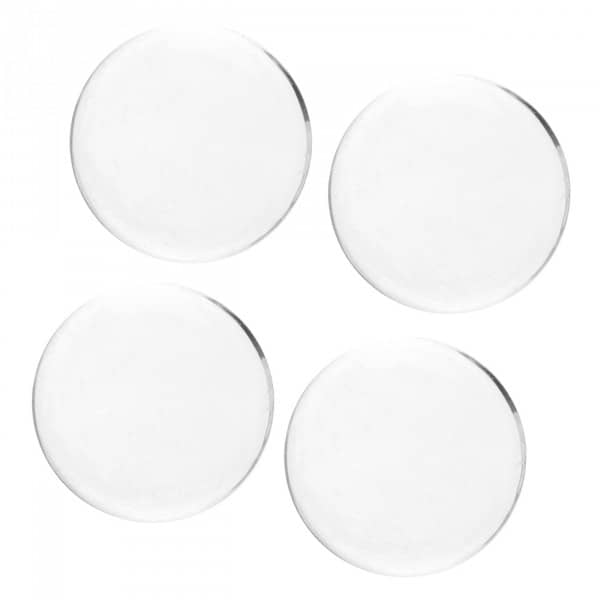 4 transparente Dekosteine rund