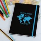 Weltenbummler Notizbuch mit Ihrem Wunschnamen graviert