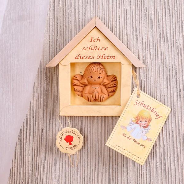 Schutzengel für das Heim mit Schutzbrief
