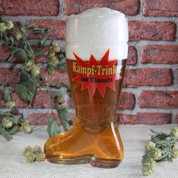 Bier-Stiefel - Kampf-Trinker - 2,4l Glas