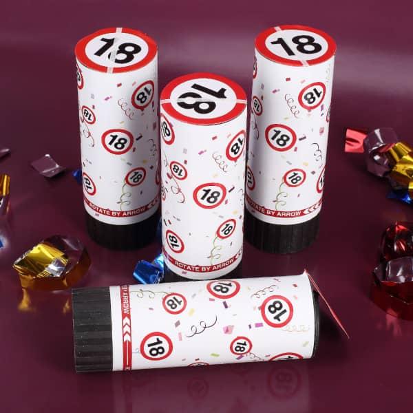 Mini-Konfetti-Kanonen mit Jahreszahl - 4er Set
