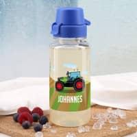 Traktor- Trinkflasche mit Name 0,4 L