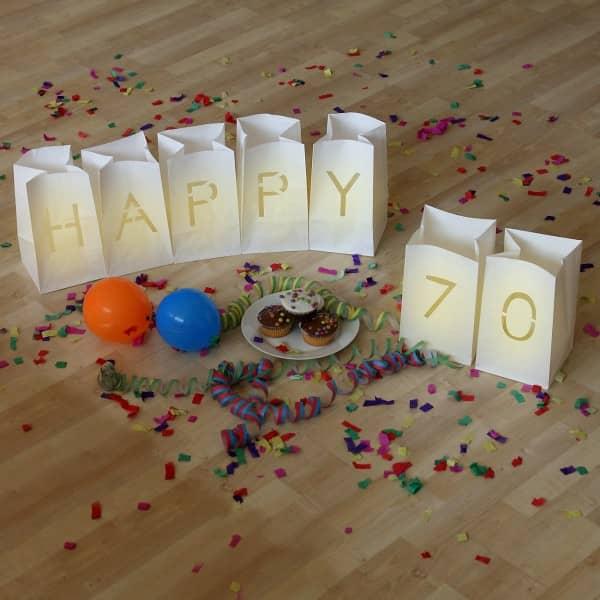 Stilvolle dekoration zum 70 geburtstag - Dekoration zum 70 geburtstag ...