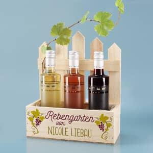 Personalisiertes Geschenkset mit Wein