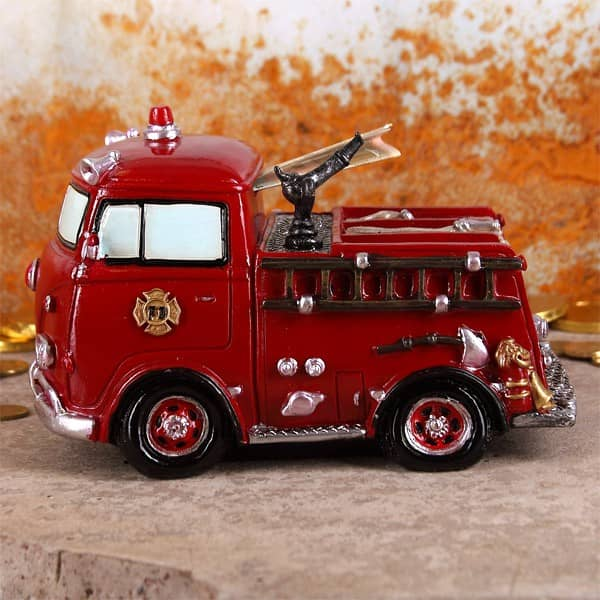 Spardose Feuerwehrauto