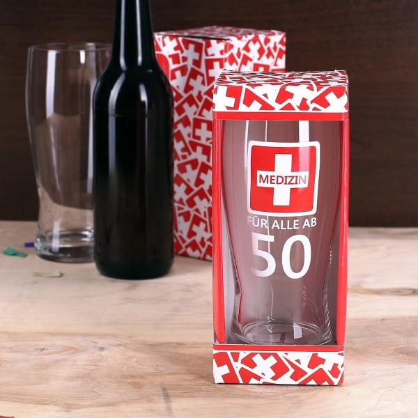 Bierglas - Medizin für alle ab 50