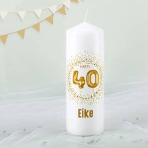 Geburtstagskerze zum 40. mit Name