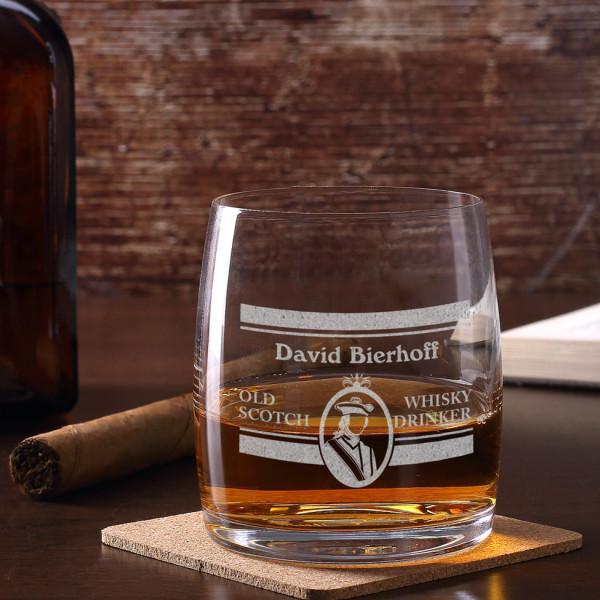 Graviertes Whiskyglas mit Wunschnamen