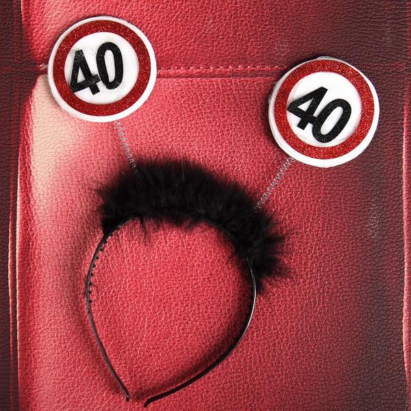 lustiger Haarreif zum 40. Geburtstag