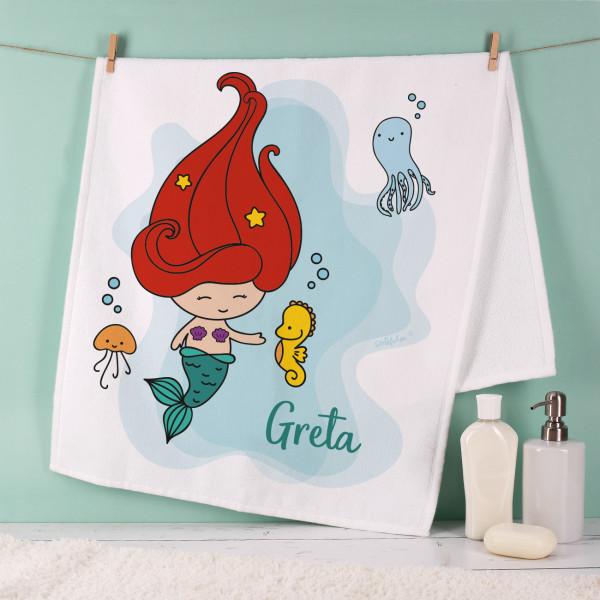Handtuch mit kleiner Meerjungfrau in zwei Größen