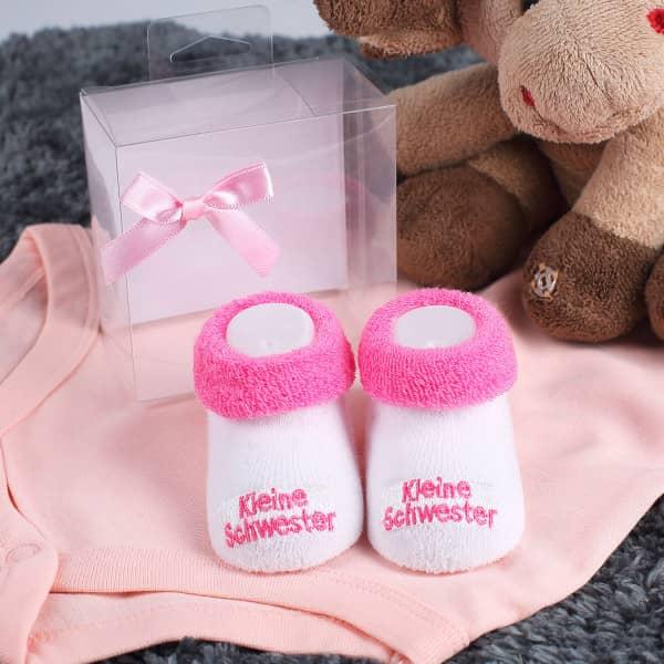 Babys erste Söckchen Kleine Schwester in rosa