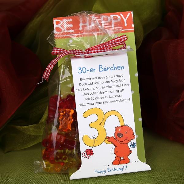 Gummibärchen zum 30. Geburtstag