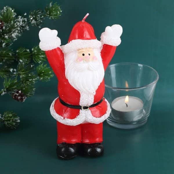 Lustiger Weihnachtsmann - Kerze