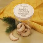 Glasdose für Plätzchen in zwei Größen als Weihnachtsgeschenk mit Namensgravur
